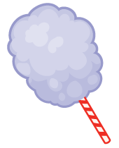 Huge, fluffy cones of cotton candy